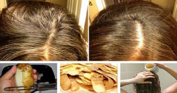 efeita da casca de batata no cabelo