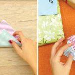 Como dobrar uma folha de papel e fazer um cartão para presentes muito original e fantástico!