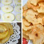 Chips de maçã com canela! Uma receita doce, deliciosa e saudável!